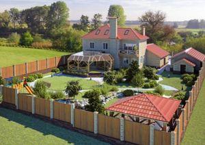 Сколько метров по закону составляет придомовая территория частного дома